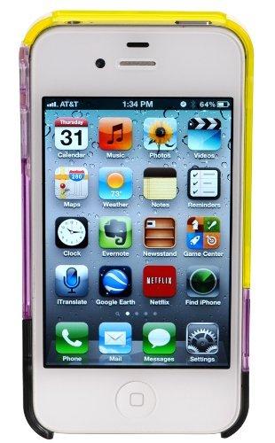 luvvitt Leaf Hülle für iPhone 4& 4S Yellow/Purple/Black