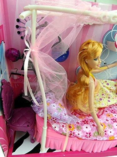 Brigamo 83072 – Princess Puppen Kleiderschrank inkl. Modepuppe und Kleider - 4