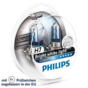 Philips Crystal Vision ultra 2x H7 4300k Xenon Effekt + 2x W5W BVU 12972CVUSM Duo E1 geprüft