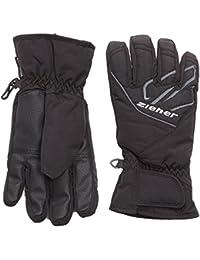 Ziener guantes de esquí para niño AZO 15, invierno, niño, color Negro - negro y gris, tamaño 4