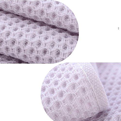 Plain 3 cotone a nido d'ape Asciugamani ( Colore : Giallo ) Grigio chiaro
