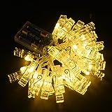 Hauptdekoration Foto Clip LED-Schnur-Licht-Batterie Perfekt Angetrieben f¨¹r Aufh?ngen von Bildern, Kunst, Party Hochzeitsdeko