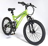 New Boys Muddyfox Cyclone 20 Dual Suspension Mountain Bike Green/Black - Green/Black -