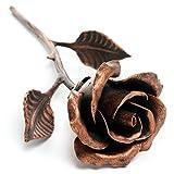 Rosa Eterna Hierro Forjado (color cobre) - Regalo Único Que Dura Para Siempre
