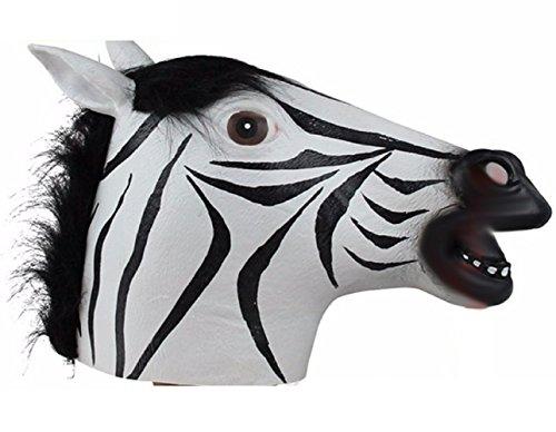 Kit Kostüm Zebra - Inception Pro Infinite Maske für Kostüm - Verkleidung - Karneval - Halloween - Zebra - Tier - Farbe Mehrfarben - Erwachsene - Unisex - Frau - Mann - Jungen