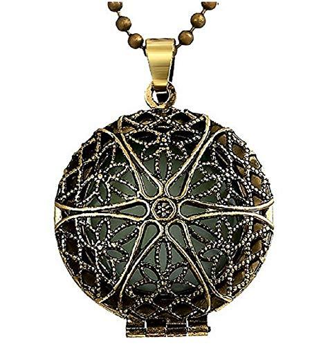 Inception Pro Infinite Halskette mit rundem Anhänger und Sternenmuster - Blauer Lichteffekt mit dunklem Glühen im Dunkeln leuchten grüne Geschenkidee