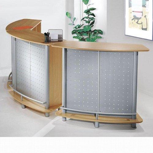 kerkmann 6996 Theke Counter Expo, Metallkorpus, alusilber/buche