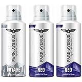 Park Avenue Voyage 1pc. + Neo 2pcs. 130 ml each Perfume Body Spray - For Men (390 ml, Pack of 3)
