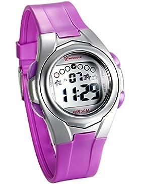 JewelryWe Kinder Studenten Armbanduhr, 30M Wasserdicht Multifunktion Digital Sport Uhr mit LED Licht /Alarm Glockenspiel...