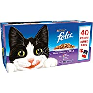 Felix Adult Cat Mixed Selection in Jelly Wet Food Pouch, 40x100g