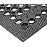 """NoTrax T30 General Purpose Rubber Competitor Safety/Anti-Fatigue Mat, for Wet Areas, 3' Width x 5' Length x 1/2"""" Thickness, Black by NoTrax"""