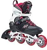 K2 Alexis Pro Rollers en Ligne Femme, Noir/Blanc/Rose