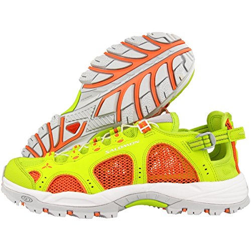 Salomon Techamphibian 3 W, Sneakers trail-running femme Vert citron / Corail / Blanc (Lime Punch/Living Coral/White)