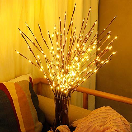 XKBESTGO Lámpara de rama de sauce LED Luces florales 20 bombillas para el hogar Fiesta de Navidad Decoración de jardín Regalo de cumpleaños de Navidad