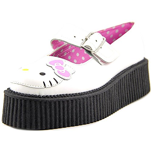 T.U.K. Hello Kitty Mary Jane Creeper Donna US 8 Bianco Mary Janes EU 39