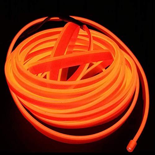 USB Neon Light EL Wire Glühender Elektrolumineszenzdraht für Xmas Party Decoration Pub mit 5mm Nährand 5M / 16FT(Orange) (Aber Einfach, Halloween-kostüme Eine Gute)