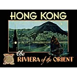 Wee Blue Coo Prints TRAVEL Tourism Hong Kong Riviera Orient