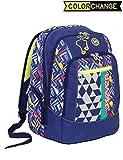 Zaino scuola advanced SEVEN - WIDGET - Blu Giallo - cambia colore 30 LT - inserti rifrangenti