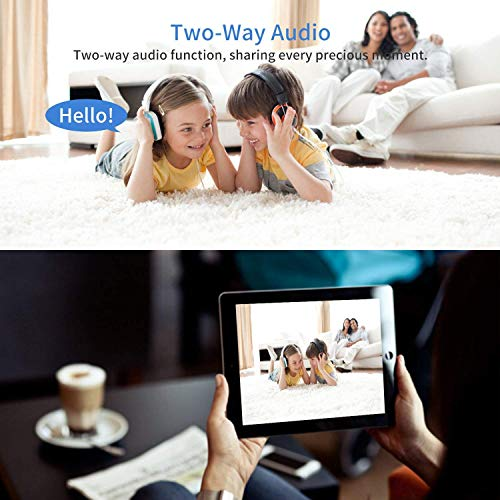 Bombilla Cámara con 32GB SD Card, Cámara de Vigilancia WiFi 360°, 960P Cámara Espía IP con Audio Bidireccional, Visión Nocturna, Detección de Movimiento, Alarmas para Casa - REIGY