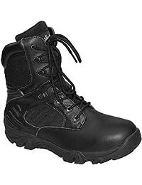 Knightsbridge 10 hoyos Doc Martens Botas Zapatos Zapatos Zapatos negros gótica Stahlkappen tama?os diferentes (42 / UK 8) aM6mOWj