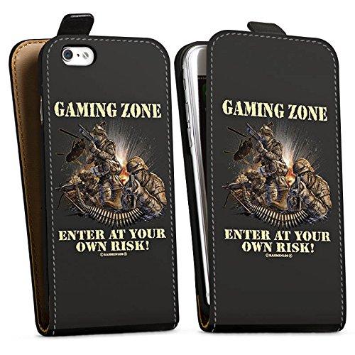 Apple iPhone X Silikon Hülle Case Schutzhülle Gaming Zone Game Sprüche Downflip Tasche schwarz