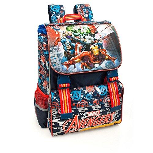 Marvel Avengers 61212 Zaino da Scuola, Estensibile, Poliestere, Multicolore, Captain America Thor Hulk Iron Man