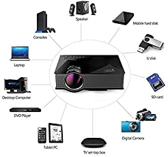 UNIC UC46 Portable 1080P 800x480 Resolution WiFi LED Projector Powered by I KALL