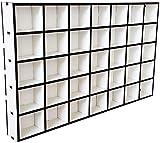 DEKOLANDO Setzkasten - 35 Fächer a 6 x 5 x 4 cm (B x H x T)- im Vintage Landhausstil - Sammlerbox Sammlervitrine Sammlerkasten