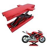blackpoolal Moto Elevador Moto Plataforma elevadora para motocicletas Tijeras Heber Lift montaje caballete soporte de montaje Hub Soporte Rojo