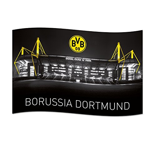 Borussia Dortmund BVB 14133000 Zimmerfahne Signal Iduna Park 140x90cm, Mehrfarbig, 140 x 90 x 1 cm