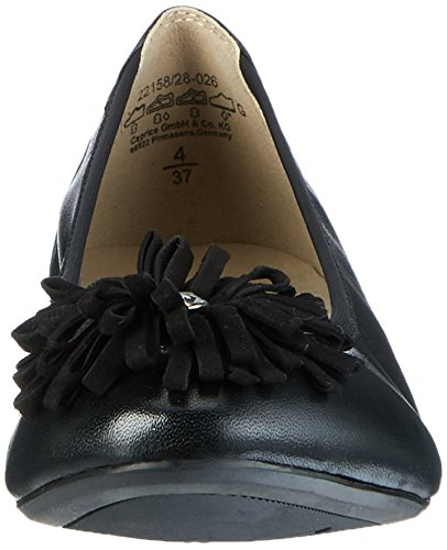 Caprice 22158, Ballerine Donna Nero (Black Nap Comb)