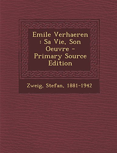 Emile Verhaeren Sa Vie Son Oeuvre [Pdf/ePub] eBook