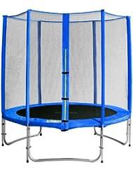 SixBros. Sixjump 1,85 M Trampoline de jardin bleu - Filet de sécurité - CST185/L1567