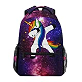 Zzkko Space Galaxy Animal Unicorn zaini College School Book bag viaggio escursionismo campeggio zaino