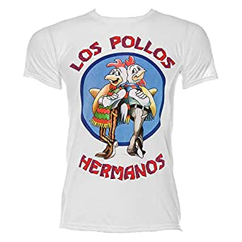 Los Pollos Hermanos T-Shirt Breaking Bad (Small, White)