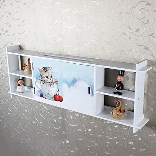 MTX Ltd Racks, Regale & Schubladen Wandregal Schwimmregal Router Aufbewahrungsbox Sockel Innenhaushalt Langlebig, 6# -