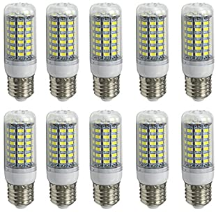 Aoxdi 10X LED Corn bulbs E27 10W, Cool White, 69 SMD 5730 E27 LED Corn Bulb Lamp, AC 220-240V