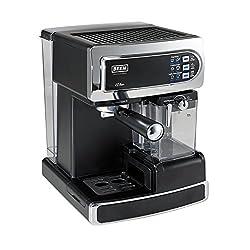 BEEM i-Joy Café 15 bar, Espresso-Siebträgermaschine mit 15 bar und integriertem Milchaufschäumer, chrom-schwarz