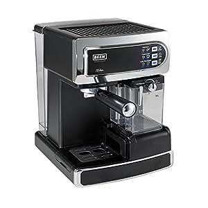 BEEM Germany i-Joy Café 15 bar, Espresso-Siebträgermaschine mit 15 bar und integriertem Milchaufschäumer, chrom-schwarz