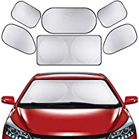 6* Parasoles para Coche todas Ventana Trasera Frontal Lado Accesorios coche Plegable Parasol Almacenaje fácil Prevención Solar - Horsky