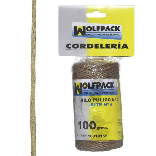 Wolfpack 16010155 Cuerda hilo pulido nº 4 bobina