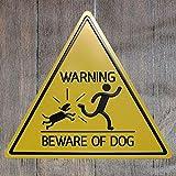 Yoin Avvertimento del Segnale del Triangolo del Metallo Tin Sign attenti ai Cani Bar Pub Retro Poster