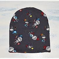 Unisex Slouchy Beanie, Ritter Wende-Beaniemütze oder Baby/Kindermütze ALLE Größen, mit weichem & stretchiest Baumwollstoffe hergestellt, Weihnachts-Geschenk