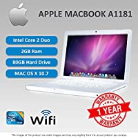 """Certified Pre-Owned MacBook Intel Core 2 Duo/2.0 GHz, 1024 MB of RAM, 80 GB internal drive, internal SuperDrive, no modem installed, Airport Extreme and Bluetooth installed, 13.3"""" TFT glossy display- white case, OS CD is not included, OS 10.4.9 installed"""
