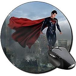 El Hombre De Acero Man Of Steel Superman E Alfombrilla Redonda Round Mousepad PC