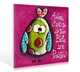 Leinwandbild Carine Mougin - La plus belle ... - 100 x 80cm - Premiumqualität - Kinderwelten, Comic, Küken, Geflügel, Lustig, Spaß, komisch, fröhlich, niedl.. - MADE IN GERMANY - ART-GALERIE-SHOPde