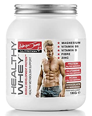 Adrian James Nutrition - Healthy Whey Protein Powder, Chocolate, 1 kg