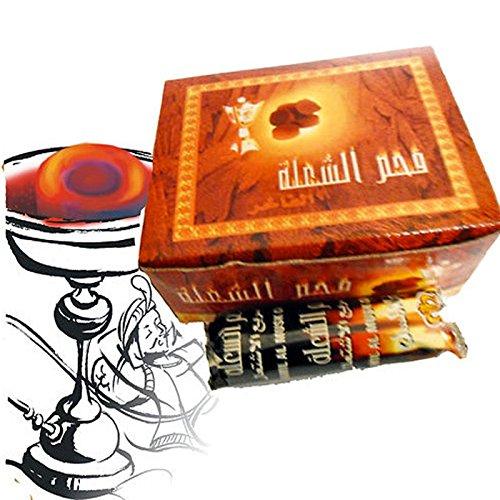 GBL® 100 Stück Shisha Hookah Wasserpfeife Smoking Kohle Holzkohle schnellzündend - 33 mm 10 Rollen