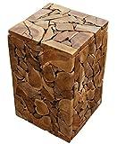 LioLiving, Hocker/Beistelltisch Mosaic aus recyceltem Teakholz (Natur) (#400159)