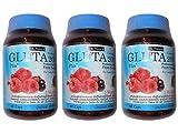 GLUTA 20000 PLUS Glutathione - BERRY MIX FIBER+VIT C - 60 Caps- Pack of 3